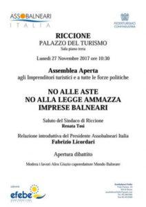 Bolkestein: domani a Riccione per dire no alle aste
