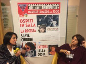 La regista Silvia Chiodin e l'attrice Lella Costa a Riccione per il docu-film Cristina