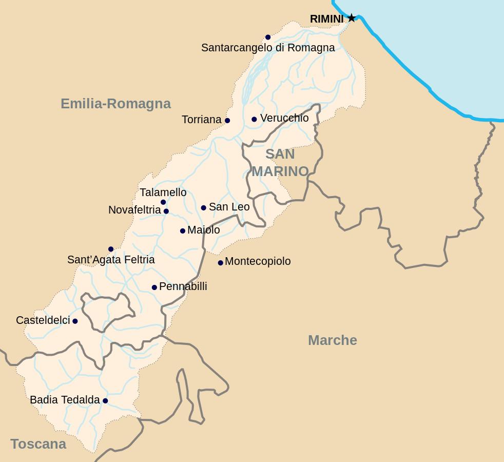 mappa valmarecchia