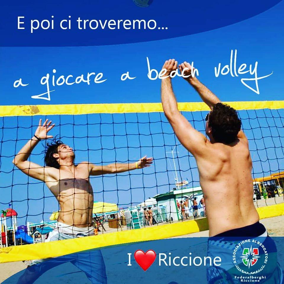 Riccione: Torneremo a Giocare a Beach Volley