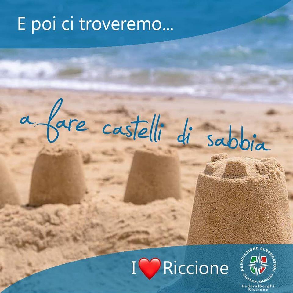 Riccione: torneremo a fare castelli di sabbia