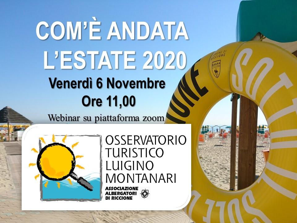 DATI OSSERVATORIO TURISTICO – ESTATE 2020 - Federalberghi Riccione