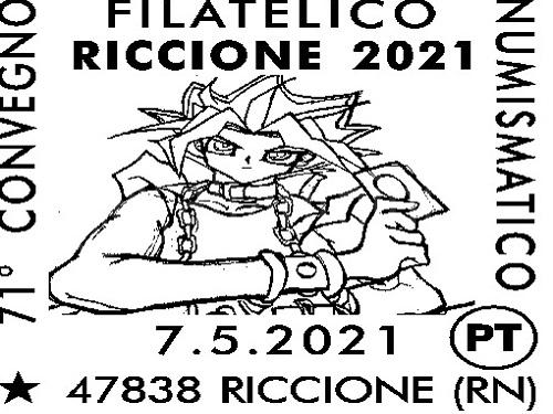 Convegno Numismatico e Filatelico a Riccione, annullo speciale di Poste Italiane
